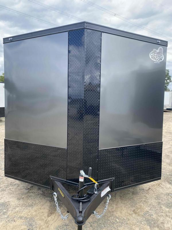 8.5x20 Char Coal  Black out ramp door Enclosed Cargo Car Hauler