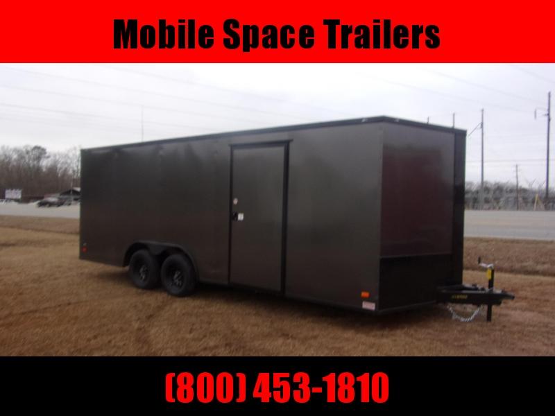 8.5x20 Char Coal  Black out ramp door Enclosed Cargo Car Hauler