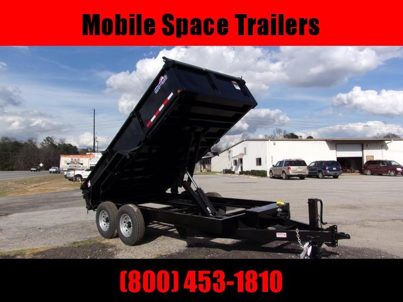 Hawke 7x16 36 high side 15k Low Pro Dump Trailer w Tarp