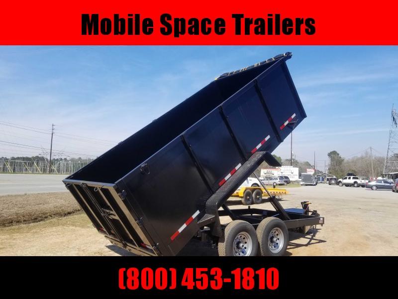 "Down 2 Earth Trailers 7x14 48"" high side 14k Dump Trailer"