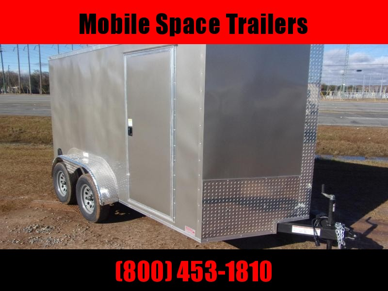 NationCraft 7x12 Pewter Enclosed cargo tailer