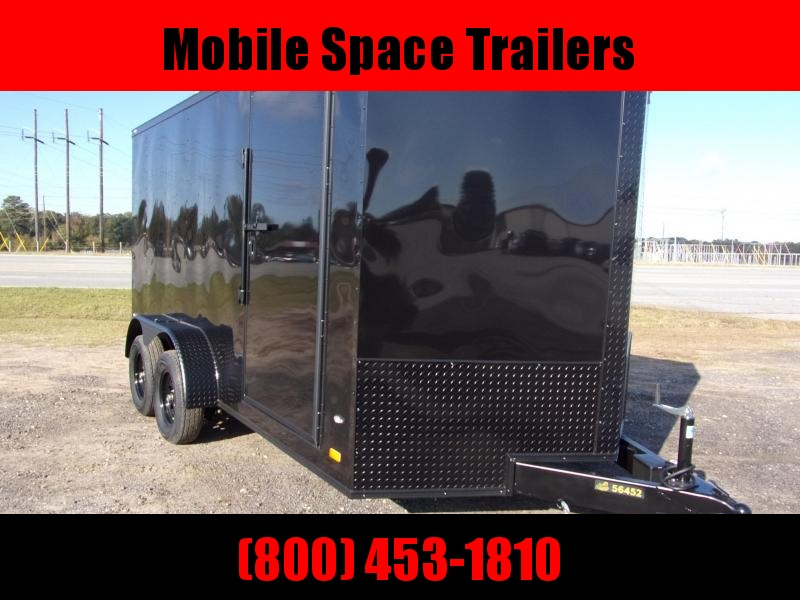 Covered Wagon Trailers 7X14 7k Blackout Tandem Ramp Door Enclosed Cargo Trailer