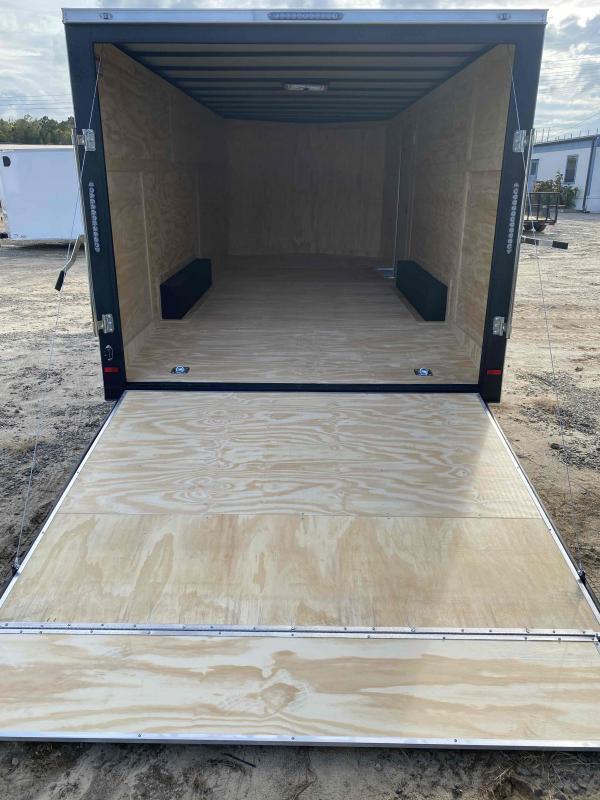 2021 Covered Wagon 8.5x20 white ramp door car hauler