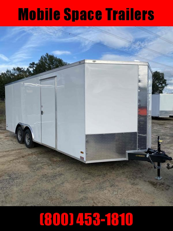 8.5X20 White Ramp Door Car Hauler