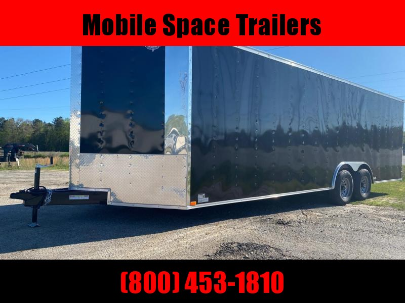 8.5X24 Black 10K Black Semi-Screwless Carhauler Enclosed Cargo Trailer