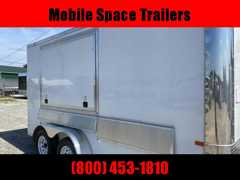 2020 Rock Solid Cargo 7X14 White Sink package Vending / Concession Trailer