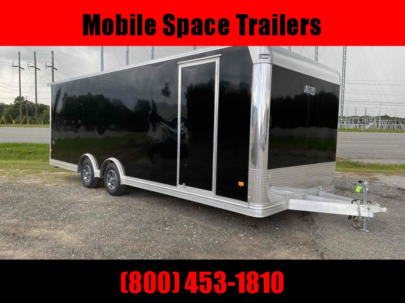Aluminum 8.5x24 Tandem Axle Black Enclosed Car hauler / Racing Trailer