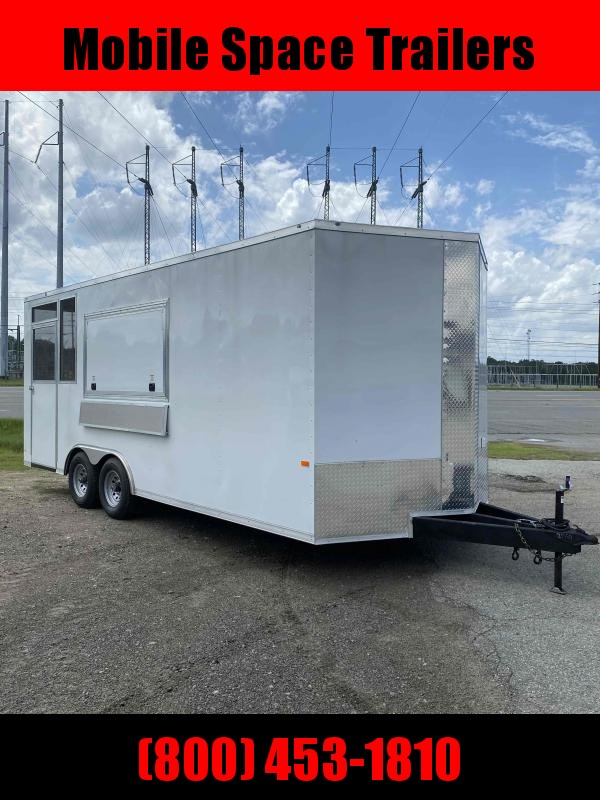 2020 Covered Wagon Trailers 8.5x20 Concession W/ 7' Porch Vending / Concession Trailer