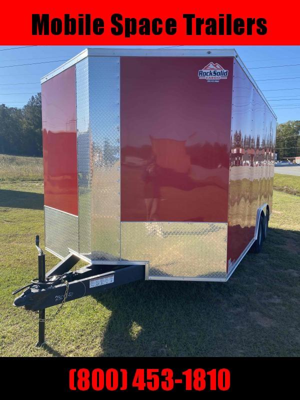 8.5x16 Red 7' Interior Vending / Concession Trailer
