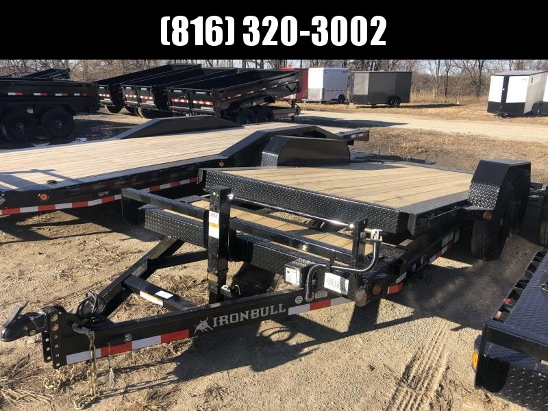 2021 IRON BULL 83X18 TILT LOPRO EQUIPMENT HAULER TRAILER