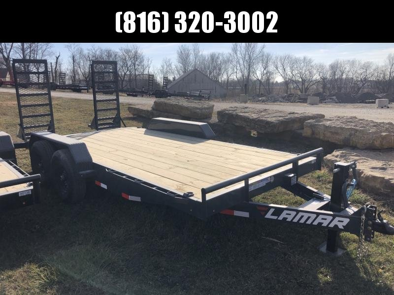 2021 LAMAR 83X16 EQUIPMENT TRAILER W/7K AXLES