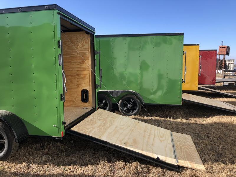 2021 ROCK SOLID 6 X 12 X 6 ENCLOSED CARGO TRAILER IN JOHN DEERE GREEN