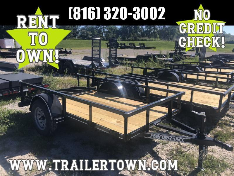 2020 PERFORMANCE 5 x 10 UTILITY TRAILER W/ 2' DOVE TAIL