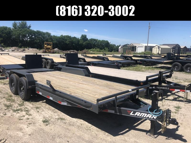 2020 LAMAR 83X20 EQUIPMENT HAULER TRAILER W/ 7K AXLES