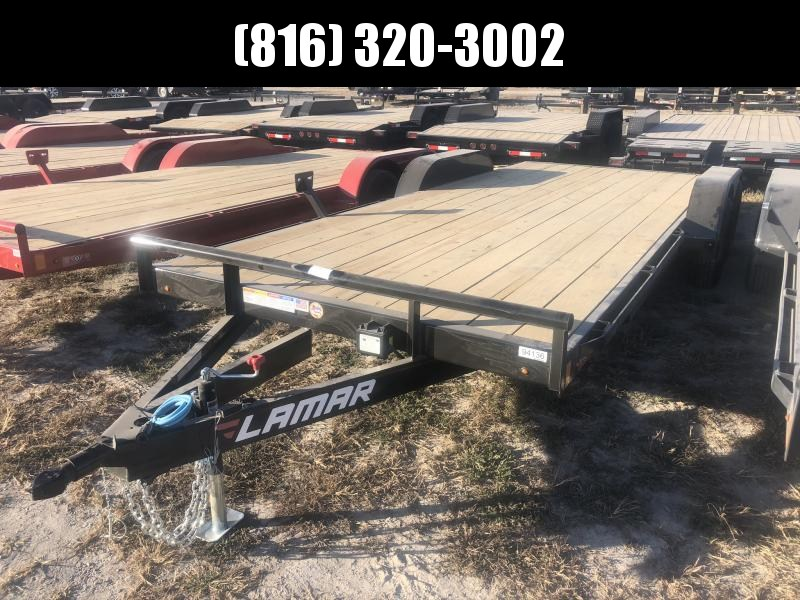 2021 LAMAR 83X20 EQUIPMENT HAULER TRAILER W/ 2' DOVE TAIL