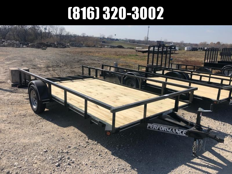 2020 PERFORMANCE 83 x 14 UTILITY TRAILER W/ 2' DOVE TAIL