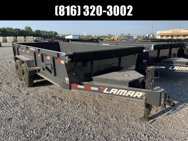 2021 LAMAR 83X16 DUMP LOPRO TRAILER W/ 14 PLY TIRES