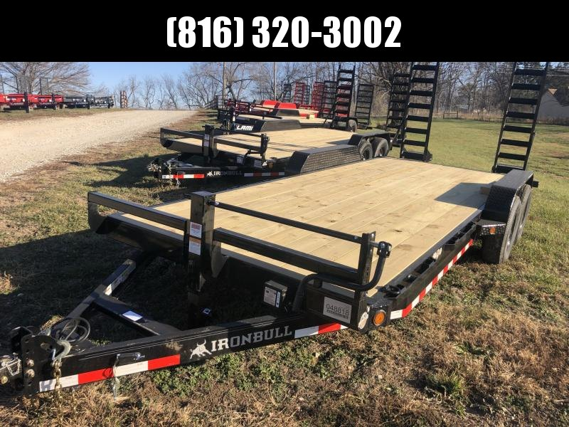 2021 IRON BULL 83X20 EQUIPMENT HAULER TRAILER W/ 7K AXLES