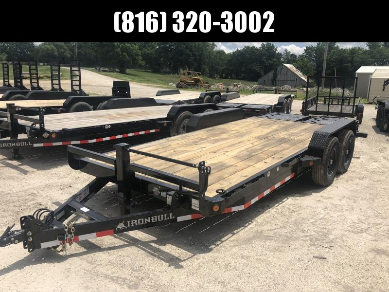 2020 IRON BULL 83X20 EQUIPMENT HAULER TRAILER W/ 3' DOVETAIL