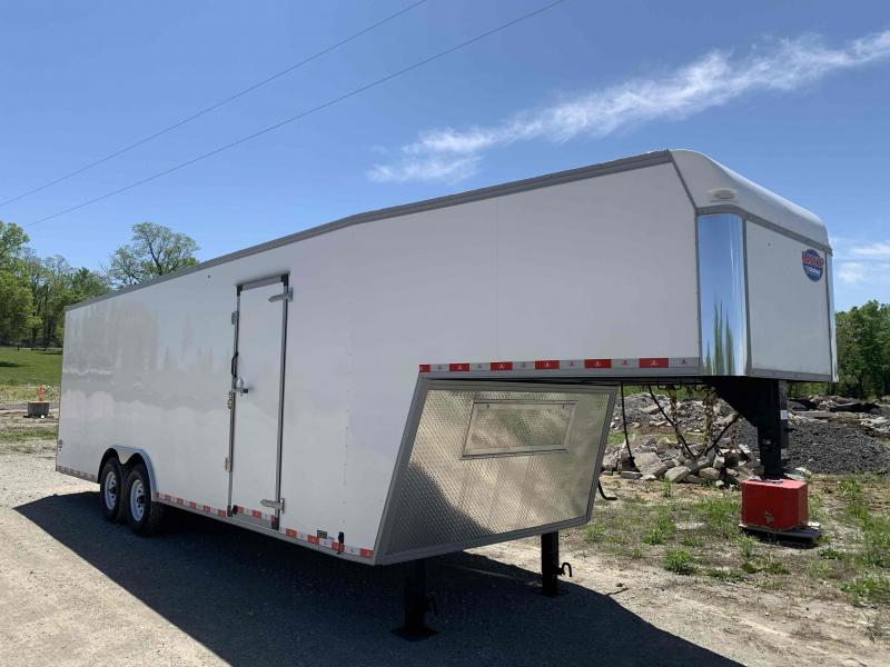 2021 UNITED 8.5 X 32 X 7 GOOSENECK ENCLOSED CARGO TRAILER