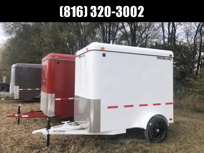 2020 PERFORMANCE 5 X 8 X 6.5 ENCLOSED CARGO TRAILER W/ STEEL SIDES
