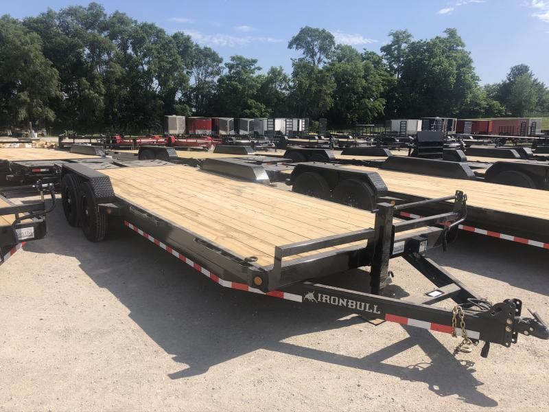 2020 IRON BULL 83X22 EQUIPMENT HAULER TRAILER W/ 7K AXLES