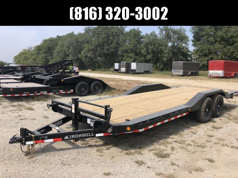 2021 IRON BULL 102x22 EQUIPMENT TRAILER W/ DRIVE OVER FENDERS