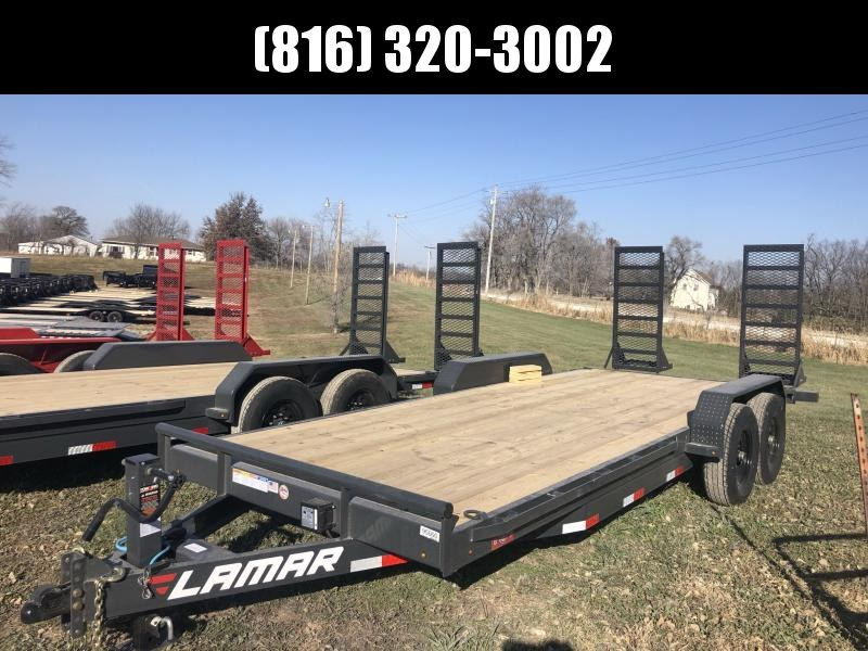 2021 LAMAR 83X20 EQUIPMENT HAULER TRAILER W/ 7K AXLES
