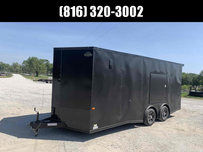 2022 ROCK SOLID 8.5 X 20 X 7 DELUXE ENCLOSED CARGO TRAILER W/ BLACK TRIM PACKAGE