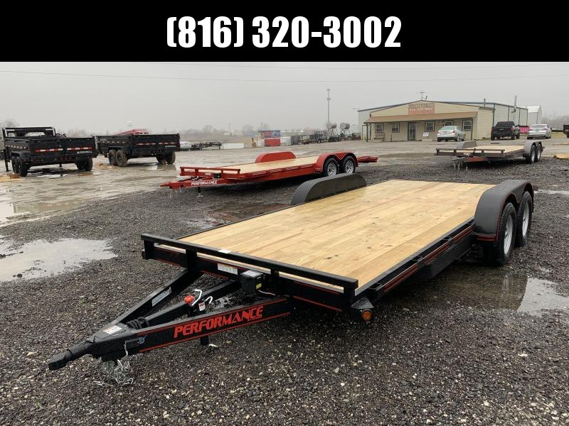 2021 PERFORMANCE 83 x 18 EQUIPMENT TRAILER W/ 2' DOVE TAIL
