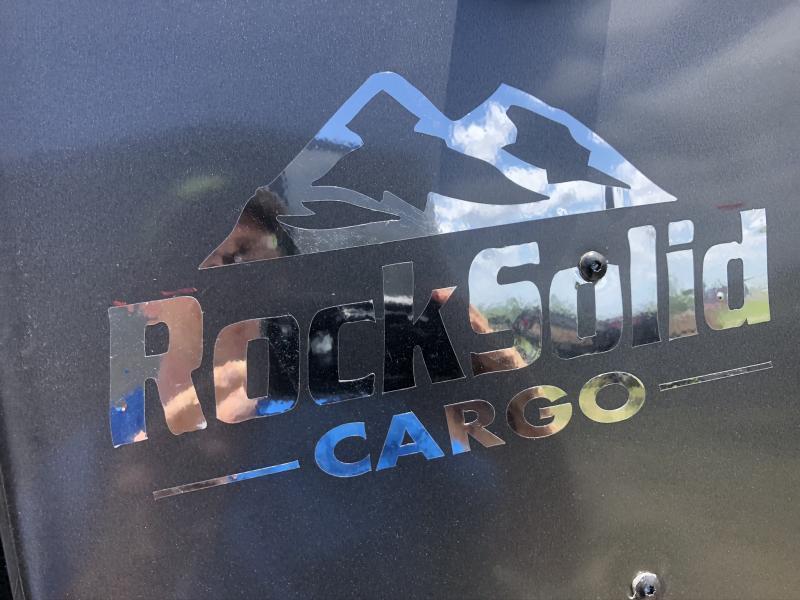 2022 ROCK SOLID 5 X 8 X 5 ENCLOSED CARGO TRAILER W/ BLACK TRIM PACKAGE