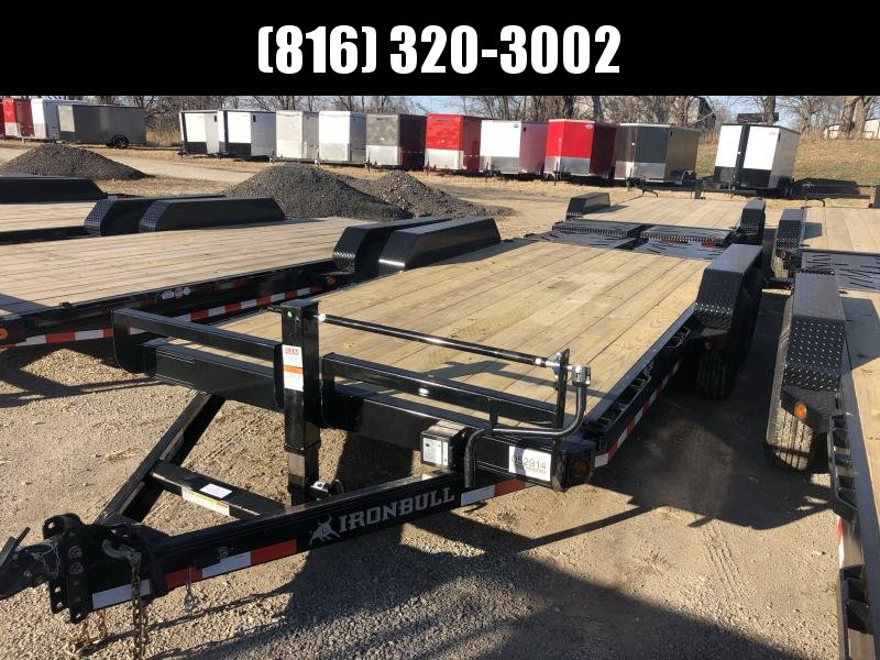 2021 IRON BULL 83X18 EQUIPMENT HAULER TRAILER W/ 3' DOVE TAIL
