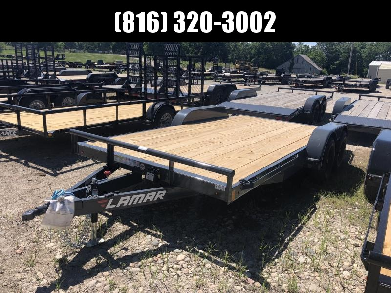 2020 USED LAMAR 83X16 EQUIPMENT HAULER TRAILER