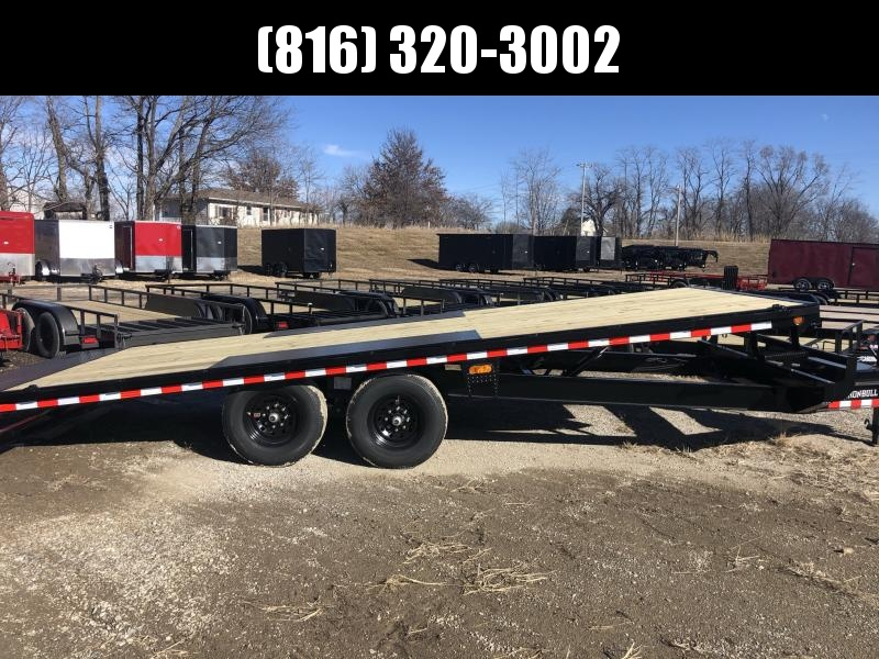 2021 IRON BULL 102X22 TILT DECKOVER EQUIPMENT HAULER TRAILER