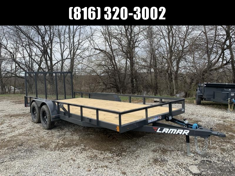 2021 LAMAR 83 x 18 UTILITY TRAILER W/ 2' DOVE TAIL