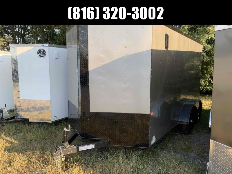 2022 ROCK SOLID 7 X 14 X 7 ENCLOSED CARGO TRAILER WITH BLACK TRIM PACKAGE