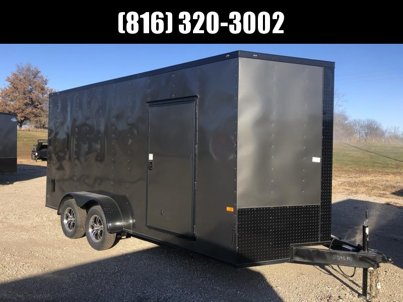 2021 ROCK SOLID 7 X 16 X 7 ENCLOSED CARGO TRAILER WITH BLACK TRIM PACKAGE