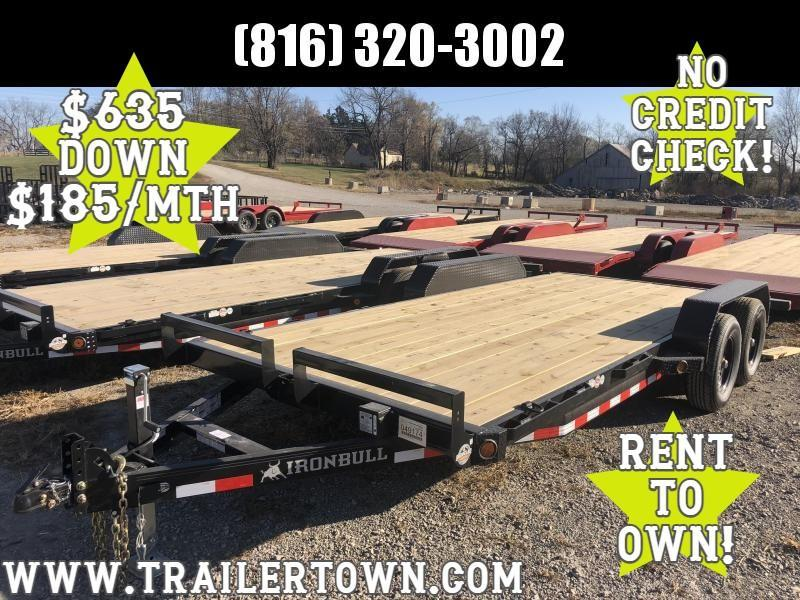 2021 IRON BULL 83X18 EQUIPMENT HAULER TRAILER W/ 2' DOVE TAIL