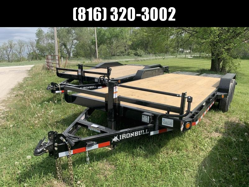2021 IRON BULL 83X20 EQUIPMENT HAULER TRAILER