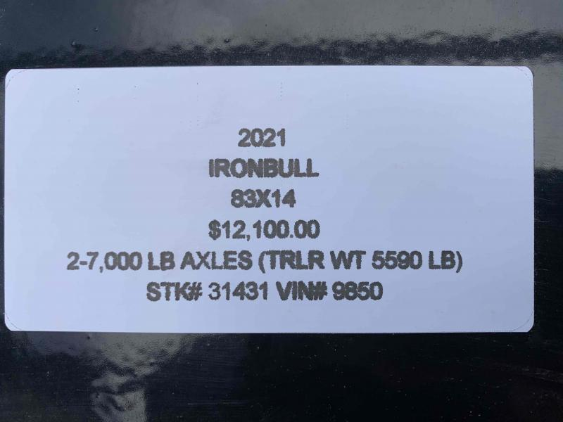 2021 IRON BULL 83X14 GOOSENECK DUMP TRAILER