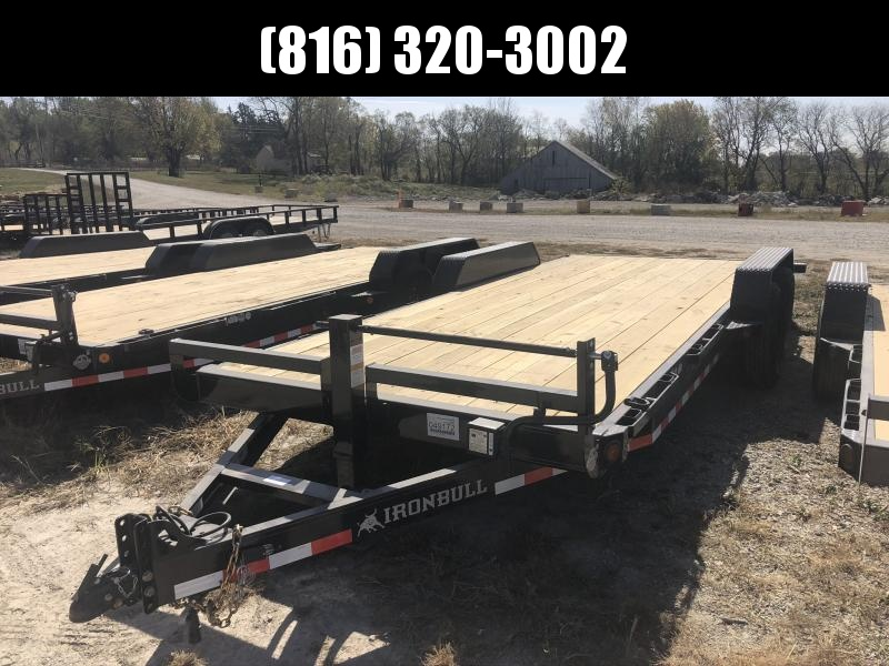 2021 IRON BULL 83X20 EQUIPMENT HAULER TRAILER W/ 2' DOVE TAIL