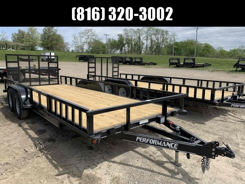 2021 PERFORMANCE 83 x 20 UTILITY TRAILER W/ 2' DOVE TAIL