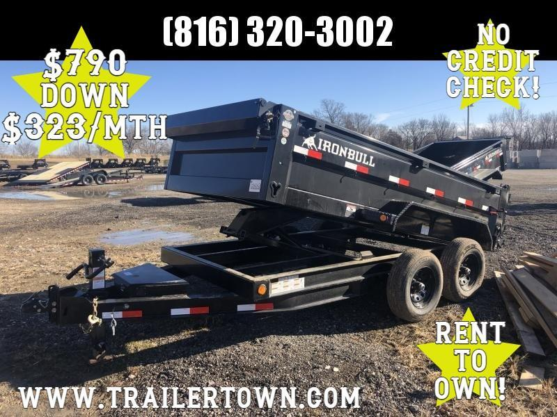 2021 IRON BULL 72X12 DUMP TRAILER W/ 52K AXLES