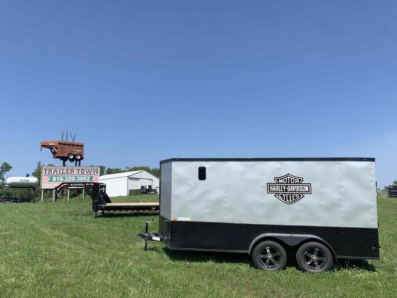 """2022 ROCK SOLID 7 X 14 X 6'3"""" ENCLOSED CARGO TRAILER W/ MOTORCYCLE PACKAGE"""