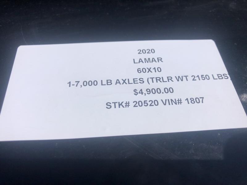 2020 LAMAR 60 X 10 MINI DUMP SINGLE AXLE TRAILER