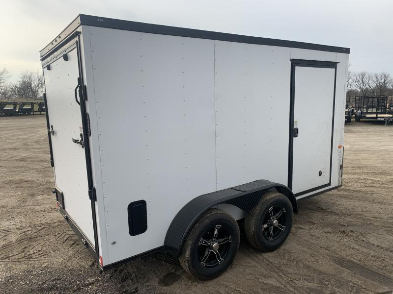 "2021 ROCK SOLID 6 X 12 X 6'3"" ENCLOSED CARGO TRAILER W/ BLACK TRIM PACKAGE"