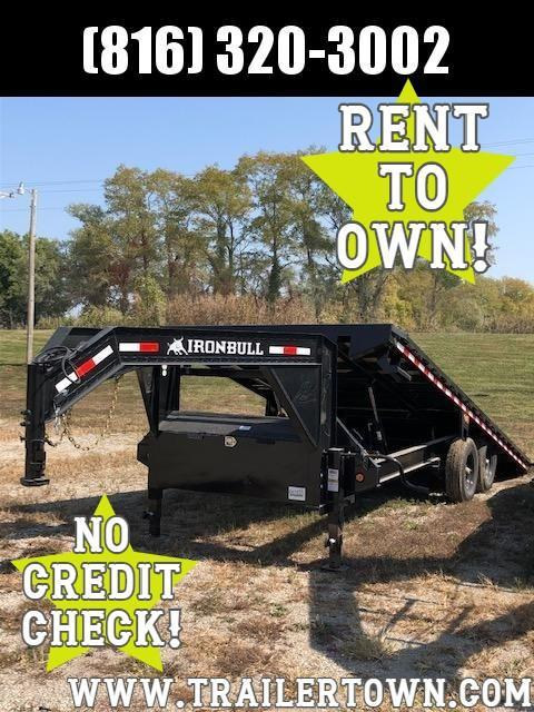 2021 IRON BULL 102 X 22 GOOSENECK DECKOVER TILT EQUIPMENT HAULER TRAILER
