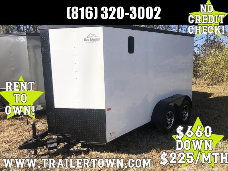 2021 ROCK SOLID 6 X 12 X 6 ENCLOSED CARGO TRAILER WITH BLACK TRIM PACKAGE