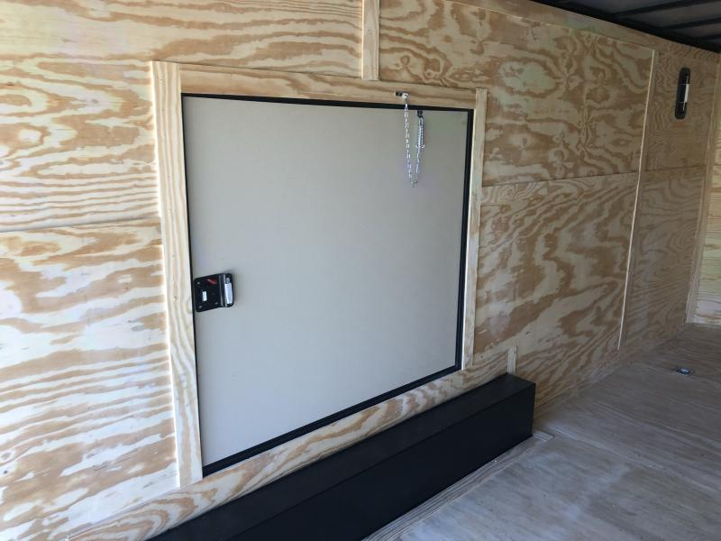 2021 ROCK SOLID 8.5 X 20 X 7 DELUXE ENCLOSED CARGO TRAILER WITH BLACK TRIM PACKAGE