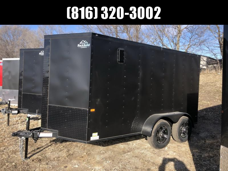 2021 ROCK SOLID 6 X 12 X 6'3 ENCLOSED CARGO TRAILER W/ BLACK TRIM PACKAGE